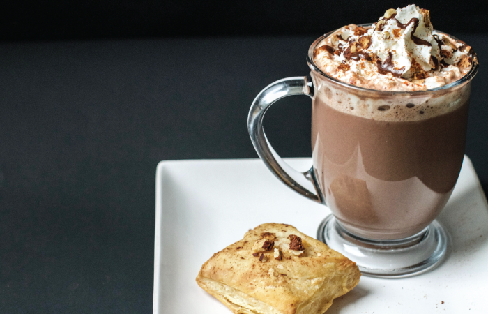 Homemade Spiced Hazelnut Hot Chocolate