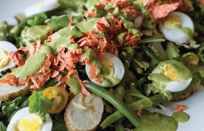 Smoked Salmon Mediterranean Salad