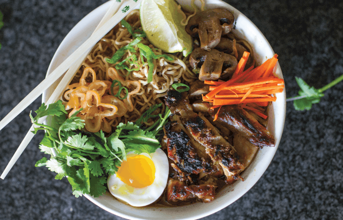 Spicy Jerk Chicken Ramen Bowl