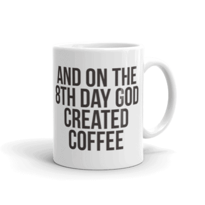 God Created Coffee Mug