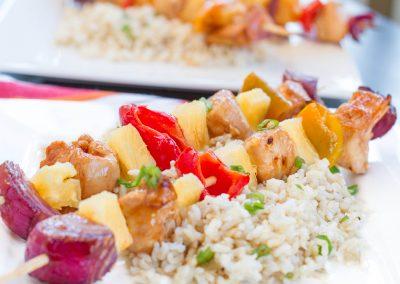 30 Minute Spicy Pineapple Teriyaki Chicken Kabob