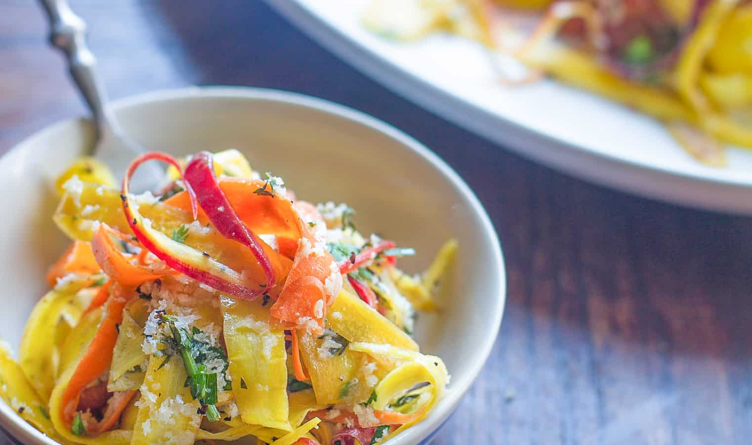 15 Minute Shaved Carrot Salad with Ponzu Dressing