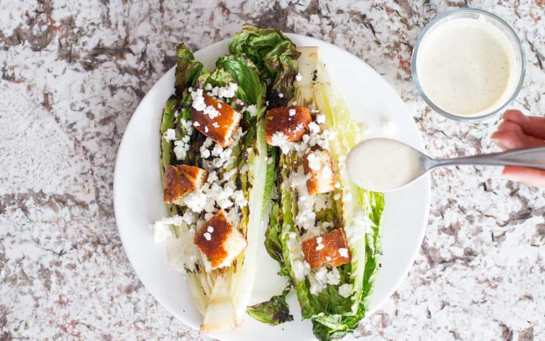 Grilled Romaine with Smoky Caesar Dressing