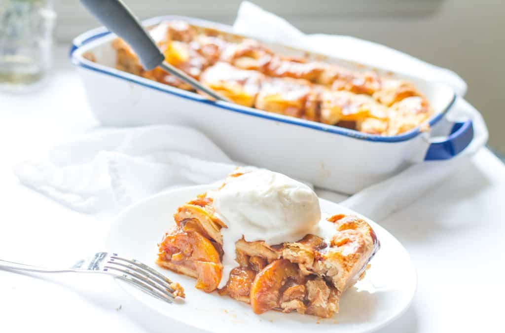 Candied Bourbon Peach Cobbler + BHM Virtual Potluck
